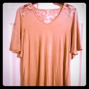 Gorgeous Tan lace top